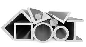 Stalowi produkty na bielu Fotografia Stock