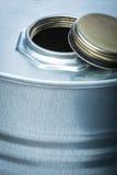 Stalowy bęben dla niebezpiecznych substancj chemicznych Zdjęcie Royalty Free
