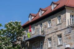 Stalowy balkon zdjęcie stock