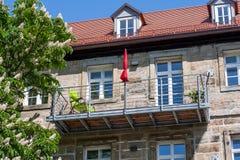 Stalowy balkon zdjęcie royalty free