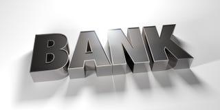 Stalowy bank Zdjęcia Royalty Free
