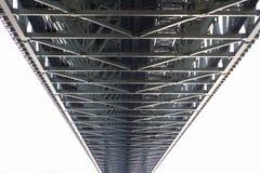 Stalowy bridżowej budowy perspektywiczny widok Obrazy Royalty Free