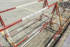 Stalowy drut kolczasty Zdjęcia Royalty Free