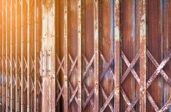 Stalowy drzwi Fotografia Royalty Free