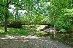 Stalowy kobyłka mosta rzeki Głębokiego parka w Indiana skrzyżowanie obrazy stock