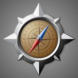 Stalowy kompas z skala Obrazy Stock