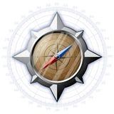Stalowy kompas z skala Obrazy Royalty Free