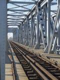 Stalowy linia kolejowa most Zdjęcie Royalty Free