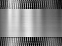 Stalowy lub aluminiowy metalu talerz nad grillem Zdjęcie Stock