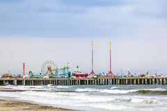 Stalowy molo, Atlantyckiego miasta Najważniejszy park rozrywki fotografia stock