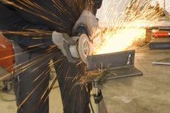 stalowy ostrzarza pracownik obraz stock