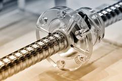 Stalowy prącie z śrubową nicią i plastikowym round szczegółem Zdjęcie Royalty Free