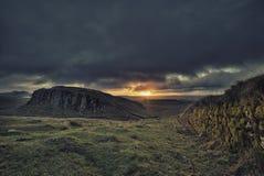 Stalowy Rigg wschód słońca Zdjęcia Stock
