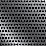 Stalowy tło z bezszwowym okręgiem dziurkował węgiel tekstury tło Zdjęcia Royalty Free