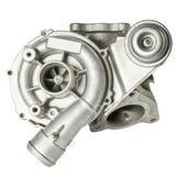 Stalowy turbocharger odizolowywający na białym tle Auto części obraz stock