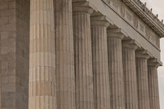 Stalwart Doric Columns of the Lincoln Memorial Royalty Free Stock Photography