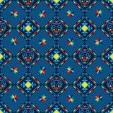 Stam- abstrakt sömlös geometrisk modellaztec Arkivbild