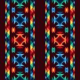 Stam- abstrakt sömlös geometrisk modellaztec Arkivfoton