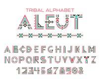 Stam- Aleut alfabet Arkivfoton