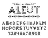 Stam- Aleut alfabet Royaltyfri Foto