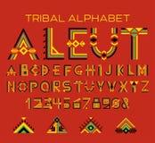 Stam- Aleut alfabet Arkivbilder