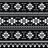 Stam- aztec sömlös modell, tryck vektor illustrationer