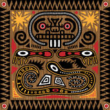 stam- aztec tegelplatta Arkivfoton