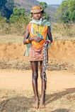 stam- barn för bondakvinnlig Royaltyfri Bild
