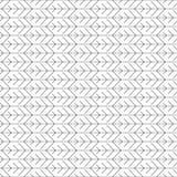 Stam- belägga med tegel sömlös modell med pilar Abstrakt tunn linje prydnad som göras av enkla geometriska former Royaltyfri Foto