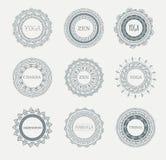 Stam- bohemisk Mandalabakgrund med rundan Arkivfoto