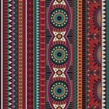 Stam- etnisk sömlös modell för abstrakt vektor royaltyfri illustrationer