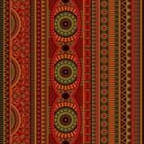 Stam- etnisk sömlös modell för abstrakt vektor Royaltyfri Foto