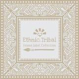 Stam- etnisk stilram för abstrakt vektor Arkivbilder