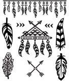 Stam- fjädrar och dekorativa beståndsdelar