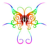 stam- färgrik tatuering för fjäril Royaltyfria Foton