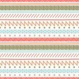 Stam- hand dragen linje geometrisk mexikansk etnisk sömlös modell kant inpackning för vektor för tema för dryckillustrationpapper vektor illustrationer