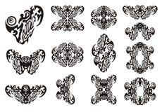 Stam- hjärta och symboler från den Arkivfoto