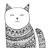 Stam- katt vektor illustrationer