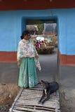 stam- kvinna Arkivfoton