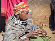 stam- kvinna för bondamarknad Arkivbilder