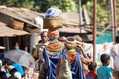 stam- kvinna för bondamarknadsonokudelli Fotografering för Bildbyråer