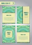 Stam- mandaladesignuppsättning dekorativ elementtappning Arkivfoton