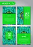Stam- mandaladesignuppsättning Klotterillustration om skog Royaltyfri Foto
