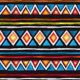 stam- modell Sömlös bakgrund med stam- design vattenfärg Arkivbilder