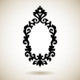 Stam- reflekterad svart tatuerad ram Royaltyfri Fotografi