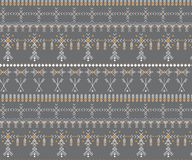 Stam- sömlös modell - infött tecken för Berber, etnisk bakgrund royaltyfri bild