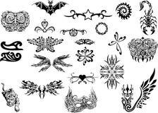 stam- set tatuering vektor illustrationer