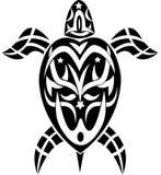 stam- sköldpadda för tatuering Royaltyfri Bild