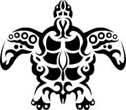 stam- sköldpadda för tatuering Vektor Illustrationer