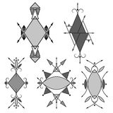 stam- stil geometrisk ram Arkivbild
